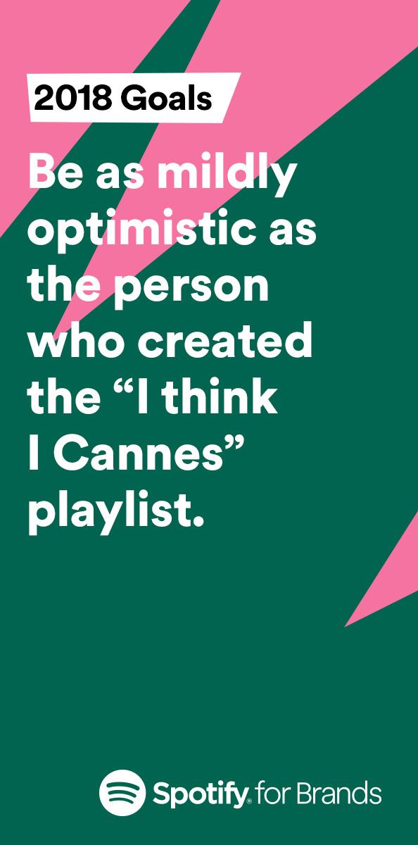 Spotify Goals 2018