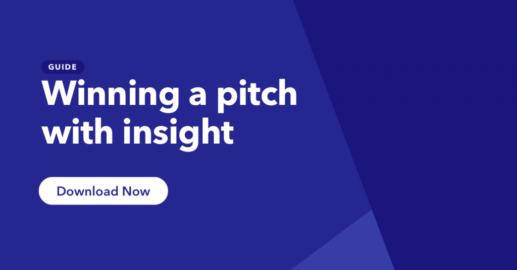 Click to access our guide to winning pitches with insight.
