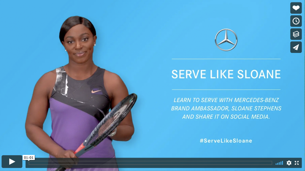 Click to access Mercedes' advertising campaign video.